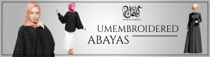 Unembroidered Abayas