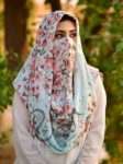 ladies scarves, scarfs, niqab, hijab, abaya, latest scarfs, modesty , female fashion,Misri Hijab- Pink Floral,Pink